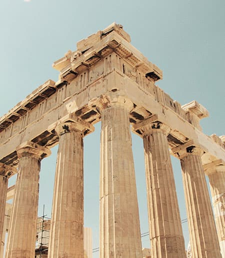 The corner of the Parthenon